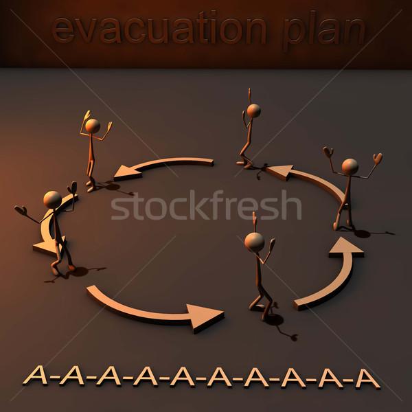 Salvataggio piano in giro cerchio panico abstract Foto d'archivio © bmwa_xiller