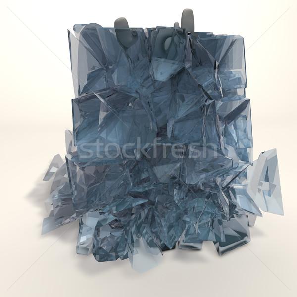 Congelato figura cubetto di ghiaccio acqua abstract pulizia Foto d'archivio © bmwa_xiller