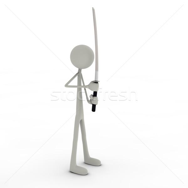 Stand posa figura posa ninja stile Foto d'archivio © bmwa_xiller