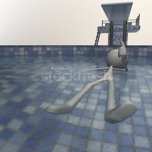 figure chilling in the schwimming pool Stock photo © bmwa_xiller
