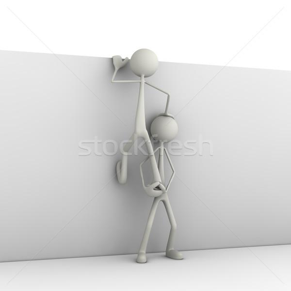 Figura climbing muro business uomo bar Foto d'archivio © bmwa_xiller