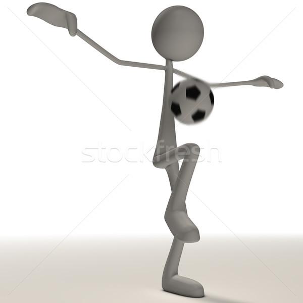 図 ジャグリング サッカー 抽象的な 背景 冬 ストックフォト © bmwa_xiller