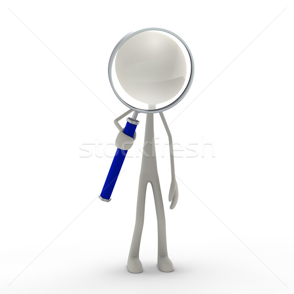 figure with loupe Stock photo © bmwa_xiller