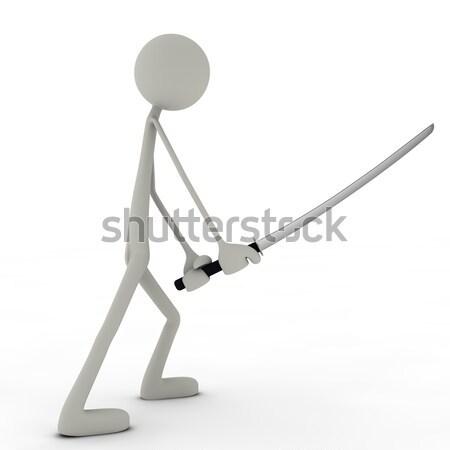 Stok fotoğraf: ışık · kılıç · düello · adam · soyut · arka · plan