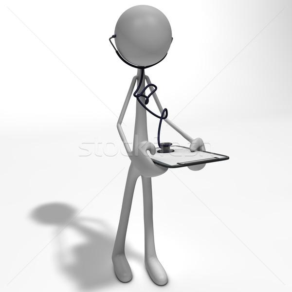 Stok fotoğraf: Anlamaya · stetoskop · doktor · ayakta · soyut