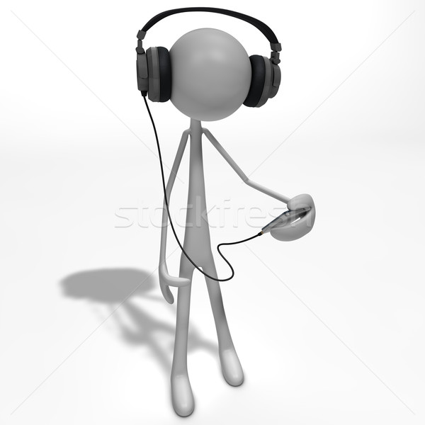 figure listening to music Stock photo © bmwa_xiller