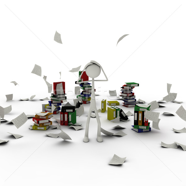 figure in paper chaos Stock photo © bmwa_xiller