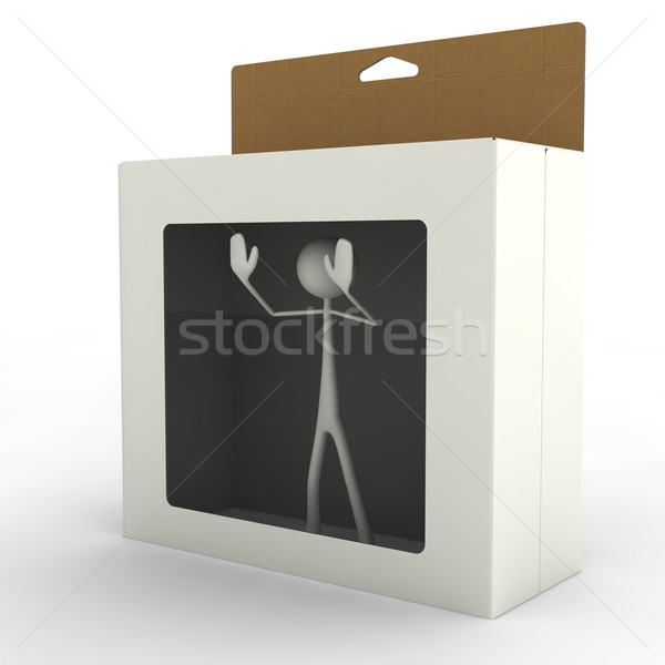 stickman in box Stock photo © bmwa_xiller