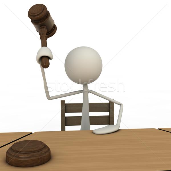 Stok fotoğraf: Yargıç · anlamaya · birisi · çekiç · adam