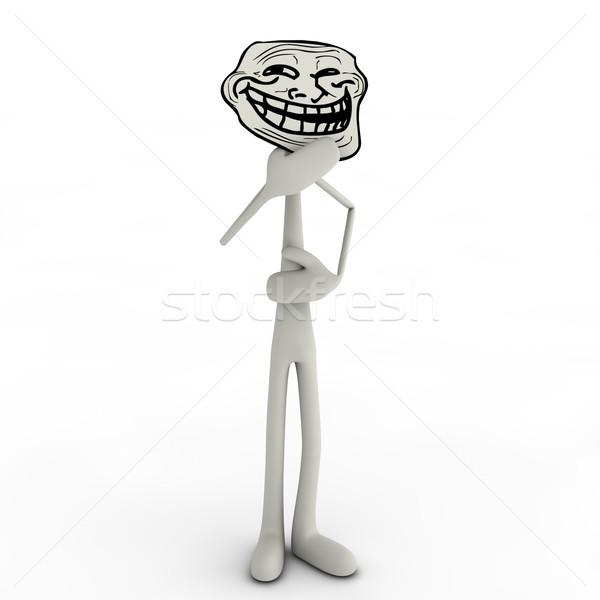 аннотация человека музыку лице весело смешные Сток-фото © bmwa_xiller