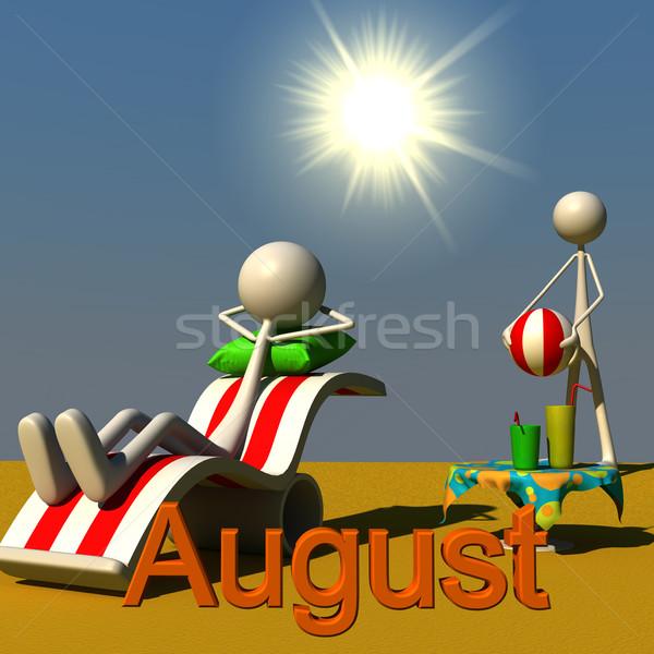 Agosto due sole abstract foglia verde Foto d'archivio © bmwa_xiller