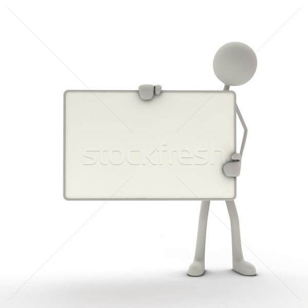 figure holds a signboard Stock photo © bmwa_xiller