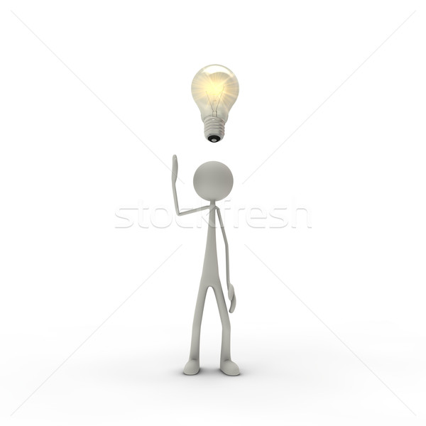 figure with electric bulb Stock photo © bmwa_xiller