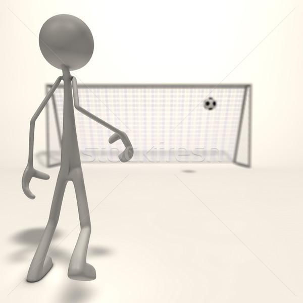 Shot obiettivo figura calcio focus uomo Foto d'archivio © bmwa_xiller