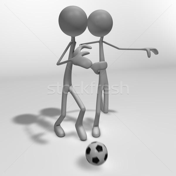 Foto d'archivio: Calcio · duello · due · calcio · abstract