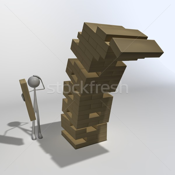 figure playing Jenga 02 Stock photo © bmwa_xiller
