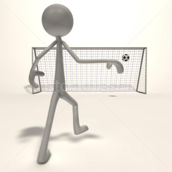 Atış gol anlamaya futbol odak soyut Stok fotoğraf © bmwa_xiller