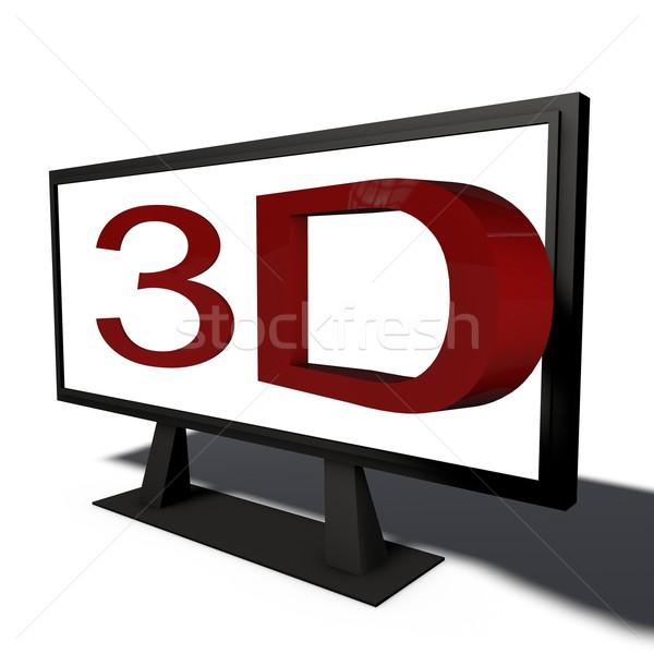 3D oggetto pittogramma business ufficio televisione Foto d'archivio © bmwa_xiller