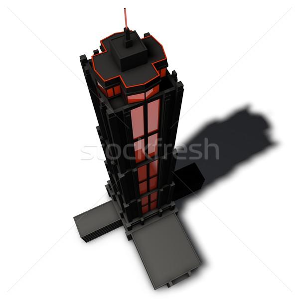 Architettonico pittogramma grattacielo ufficio internet costruzione Foto d'archivio © bmwa_xiller