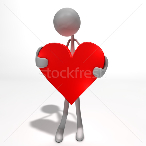 figure is holding a heart Stock photo © bmwa_xiller