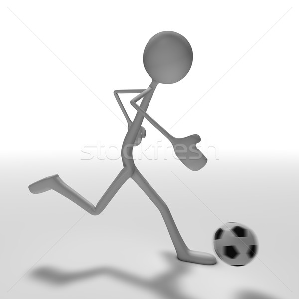 Calcio figura giocare vista laterale abstract sfondo Foto d'archivio © bmwa_xiller