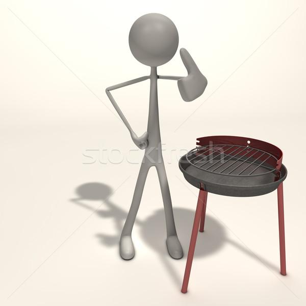 Figura grill piedi abstract sfondo marketing Foto d'archivio © bmwa_xiller