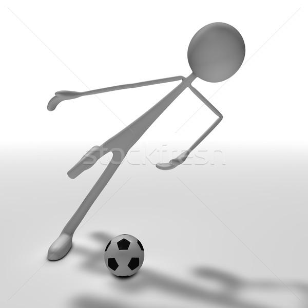 stickman - soccer Stock photo © bmwa_xiller