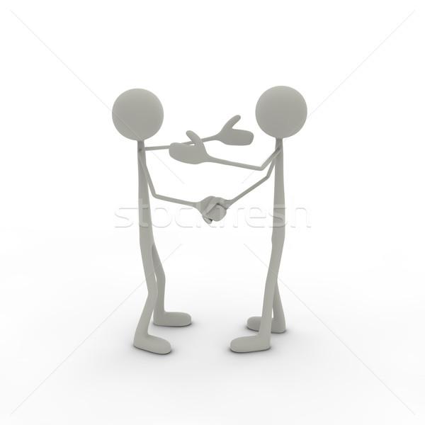 El sıkışmak silah yukarı iki adam toplantı Stok fotoğraf © bmwa_xiller