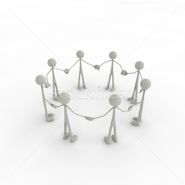 Grup daire eller hizmet beyaz destek Stok fotoğraf © bmwa_xiller