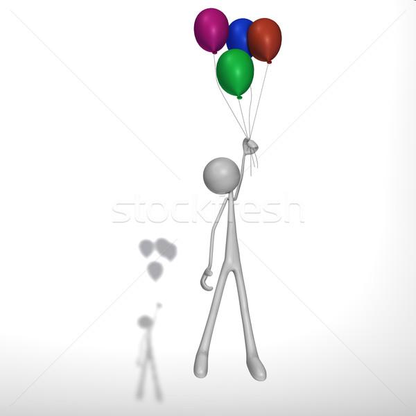 Figura palloncini battenti cielo abstract sfondo Foto d'archivio © bmwa_xiller