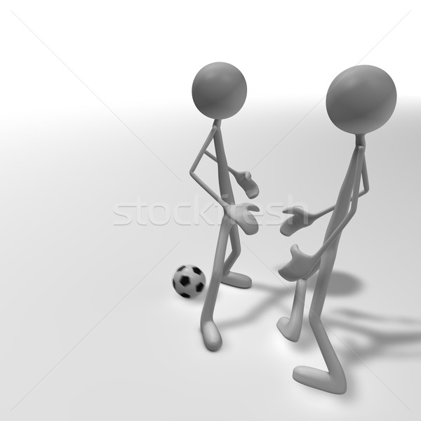 Stock photo: soccer duel 2