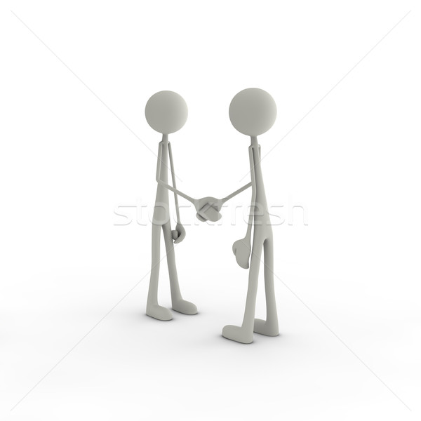 Stock photo: figures are shaking hands