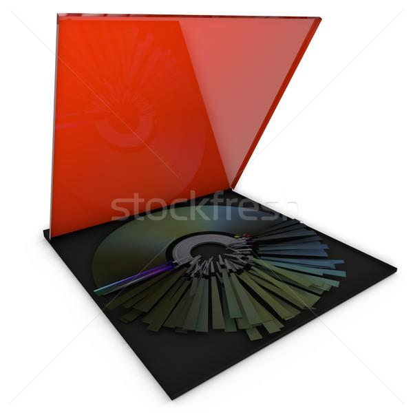 Creazione pittogramma design cd computer ufficio Foto d'archivio © bmwa_xiller