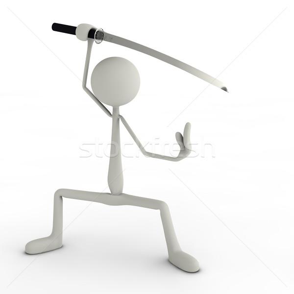 図 ポーズ 忍者 スタイル 抽象的な 剣 ストックフォト © bmwa_xiller