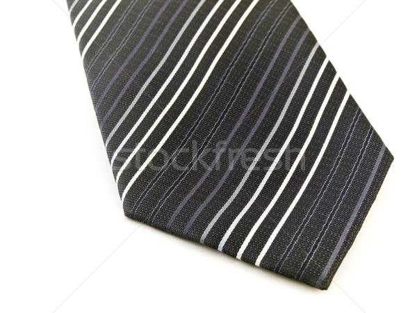 Black Business Tie on White Stock photo © bobbigmac
