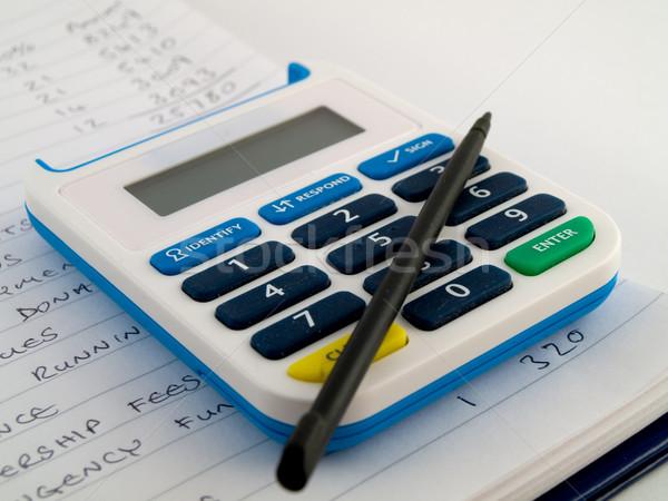 Banka pin numara güvenlik pikap iğnesi kalem Stok fotoğraf © bobbigmac