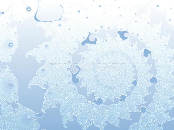 Light Blue Spiral 2d Fractal Background Stock photo © bobbigmac