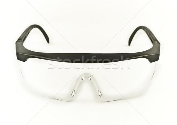 Seguridad ojo gafas de protección protección blanco Foto stock © bobbigmac