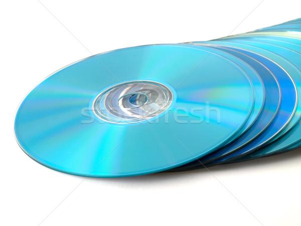 Cds blanco azul datos vídeo digital Foto stock © bobbigmac