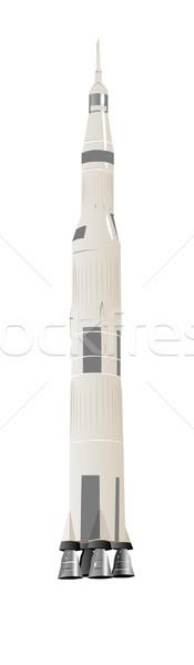 Grande espacio cohete ilustración blanco belleza Foto stock © bobbigmac