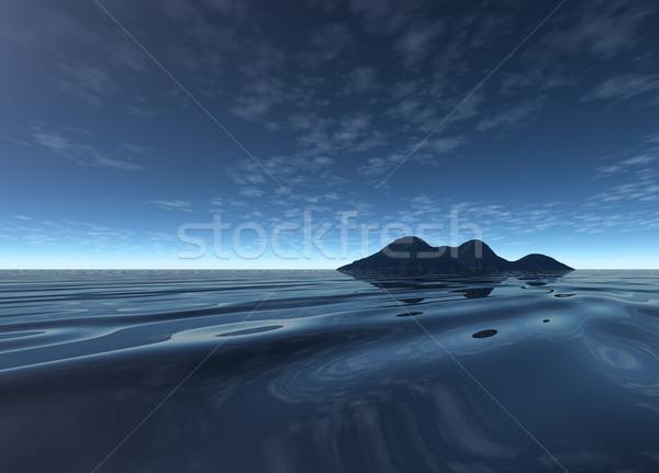 Oscuro noche paisaje distante isla eléctrica Foto stock © bobbigmac