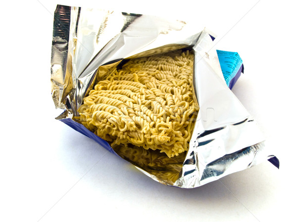 Dried Egg Ramen Noodles in Foil Stock photo © bobbigmac