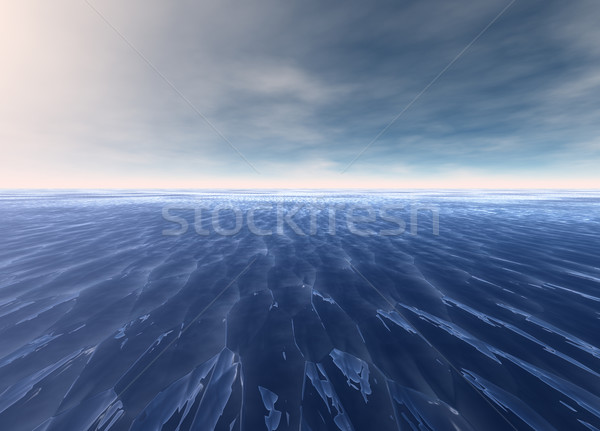 Distant Seascape Blue Water Ocean Stock photo © bobbigmac