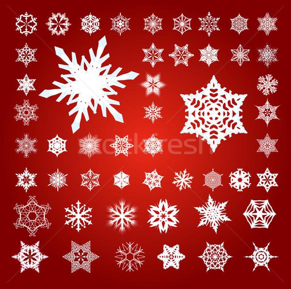 Colección 50 cincuenta rojo blanco Foto stock © bobbigmac