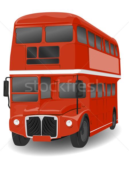 Rojo Londres autobús ilustración blanco ciudad Foto stock © bobbigmac