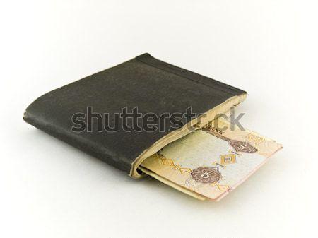 Edad cinco nota blanco dinero papel Foto stock © bobbigmac