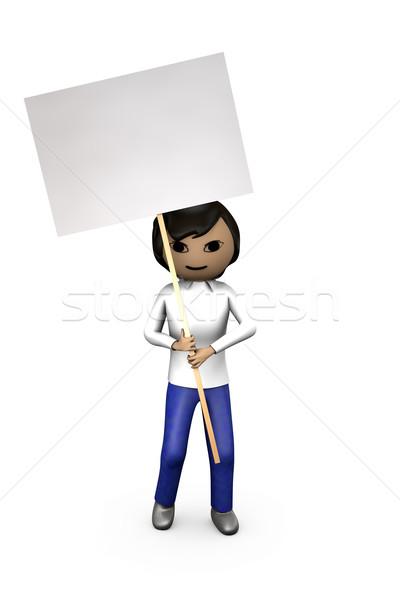 Asian 3D ragazzo carattere Foto d'archivio © bobbigmac