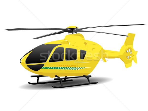 Gelb Luft Krankenwagen Illustration Notdienste weiß Stock foto © bobbigmac