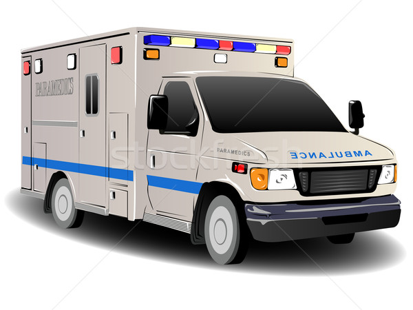Stock photo: Modern Emergency Services Ambulance Illustration