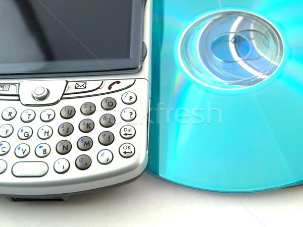 Dati cds smartphone pda bianco film Foto d'archivio © bobbigmac